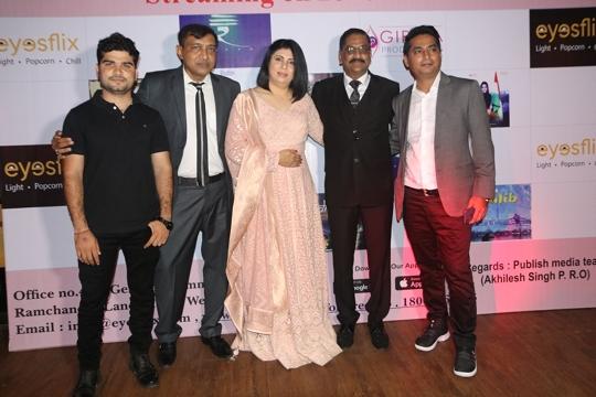 Comedians Sunil Pal, Raja Saggu Vip, Mushtaq Khan, Raja Hasan among others grace the launch of an OTT platform eyesflix